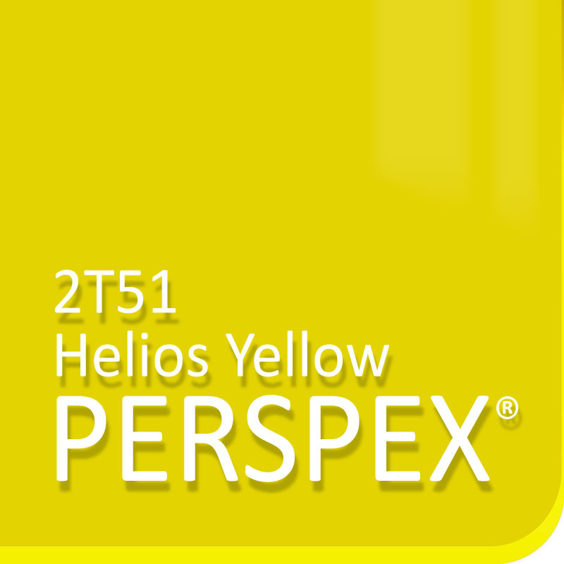 Helios Yellow 2T51 Fluorescent Perspex