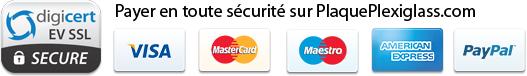 Payer en toute sécurité sur PlaquePlexiglass.com