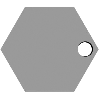 Right Hexagon Hole